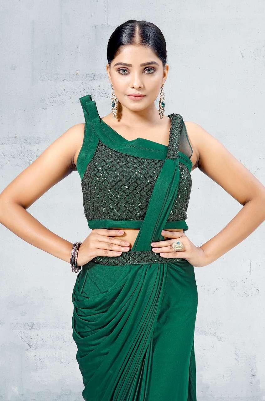 amoha trendz 1015595 series party wear designer saree catalogue collection 2021