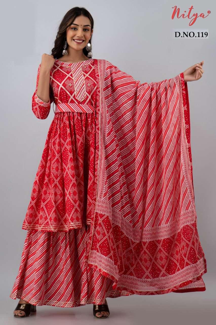 Lt Nitya 119 series designer sharara suits collection