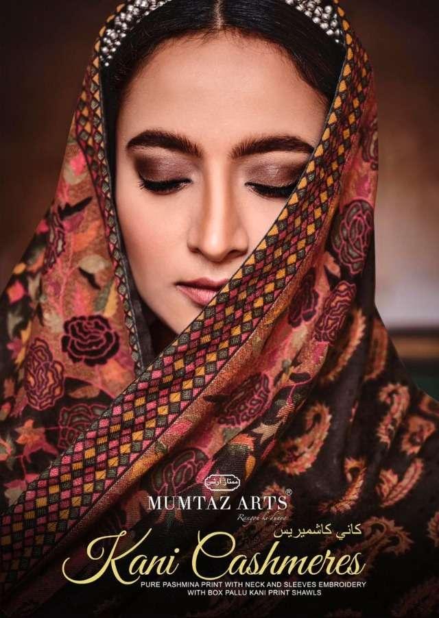 mumtaz arts kani cashmeres 4001-4008 series festive designer suits catalogue collection 2021