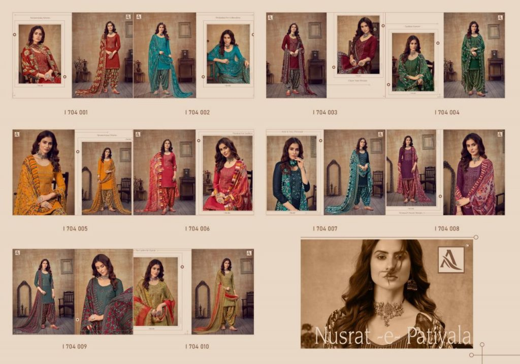 alok suits nusrat e patiyala catalog wholesale price surat