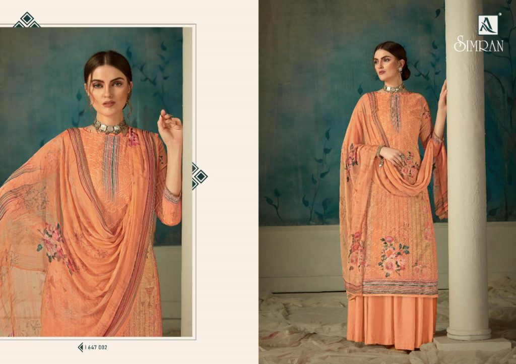 alok suits simran catalogue wholesale price pratham fashion
