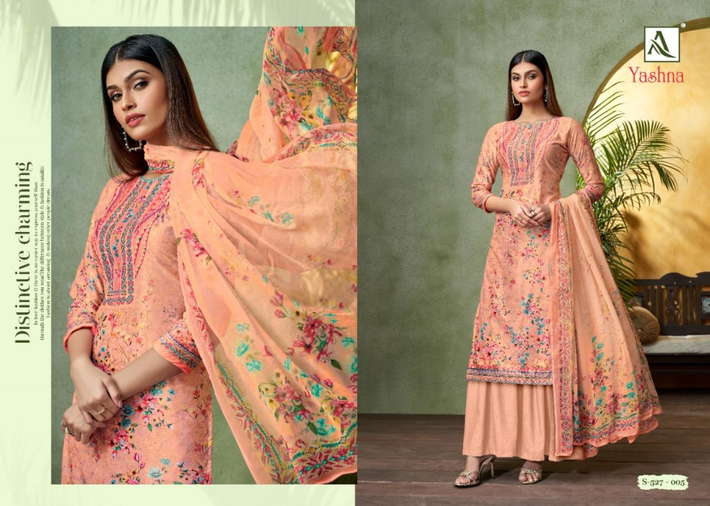 alok suits yashna catalog wholesale dress material