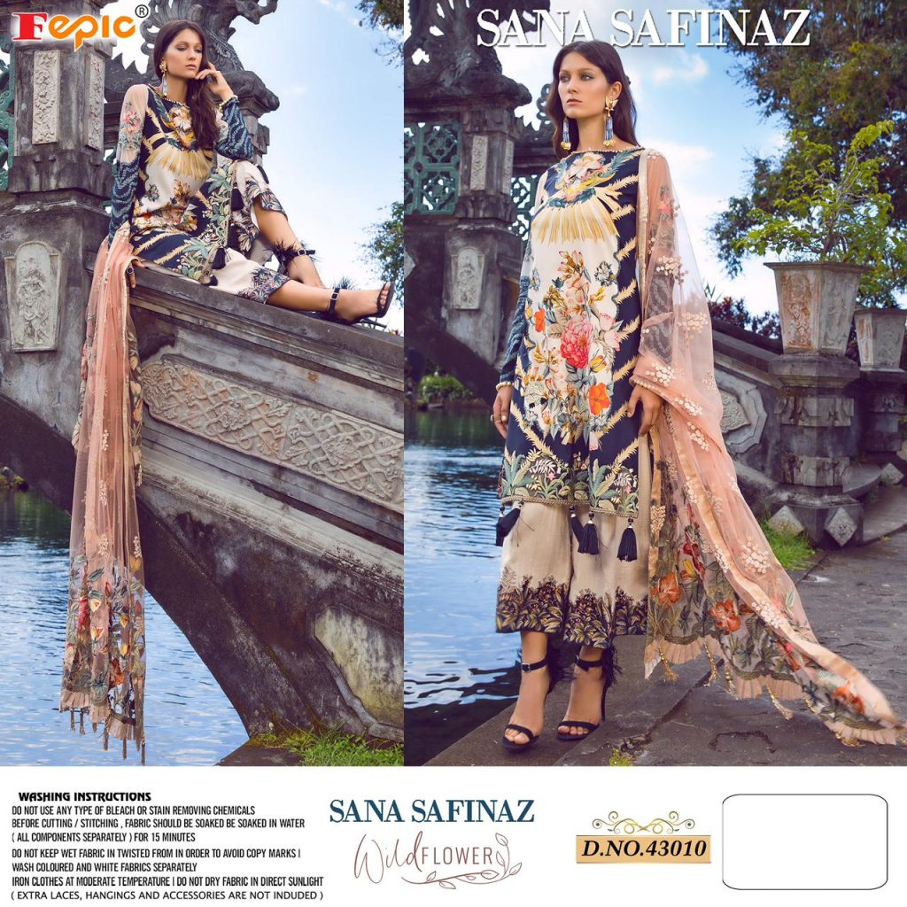 fepic sana safinaz wild flower catalogue wholesale price pratham fashion