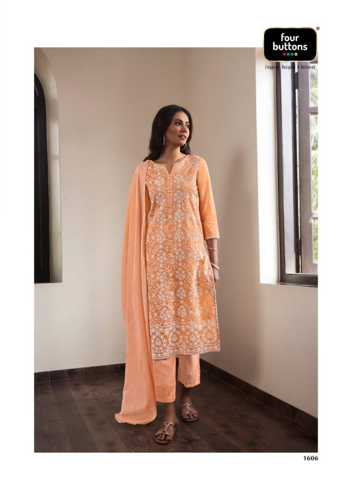 fourbutton pearl vol designer kurtis at pratham fashion