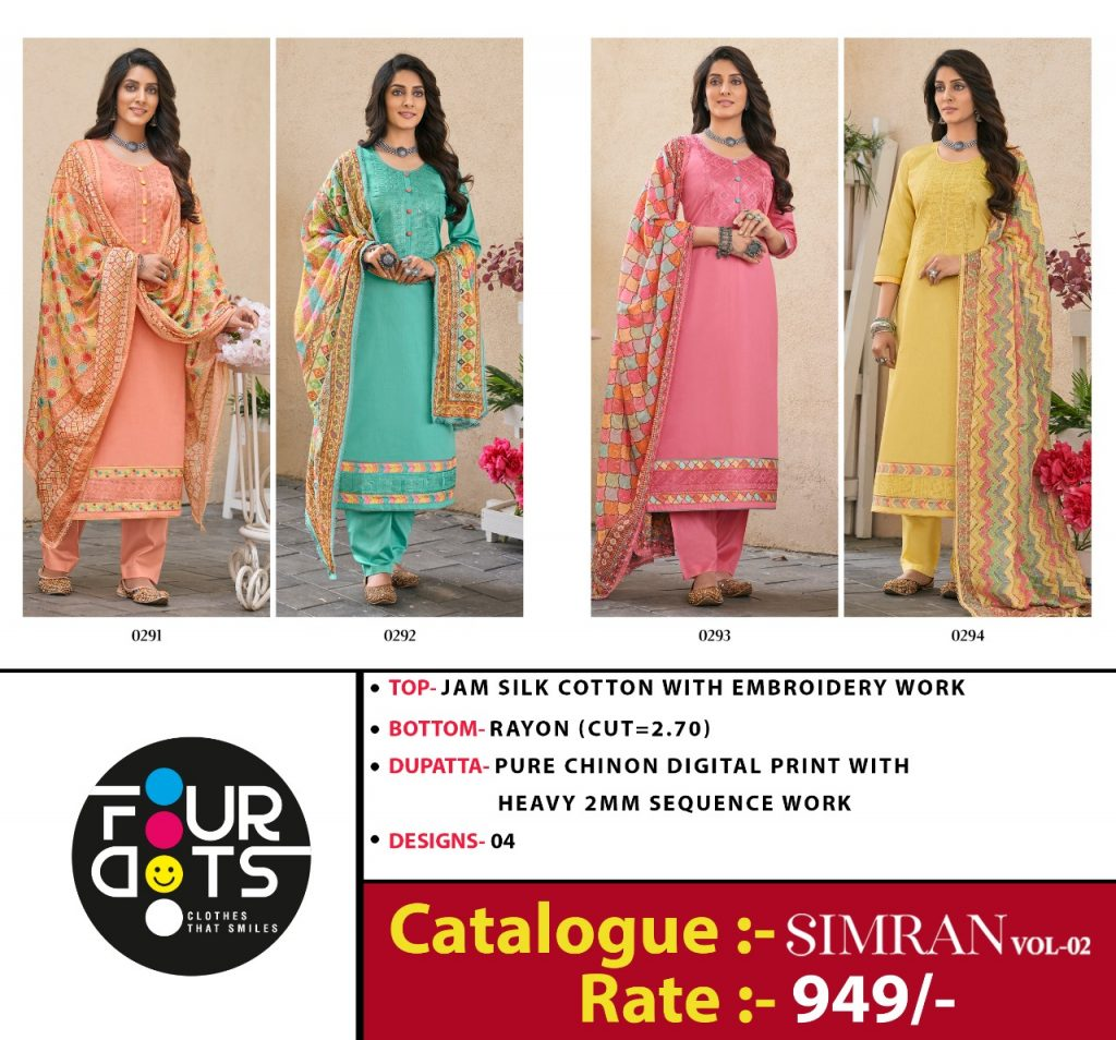 fourdots simran vol catalog wholesale dealer surat