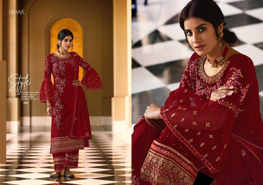 glossy zaina series georgette suits wholesale pratham exports surat