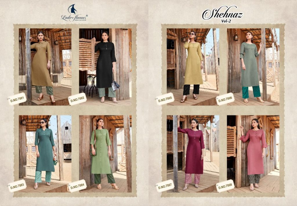 ladies flavour shehnaz vol kurti wholesale price