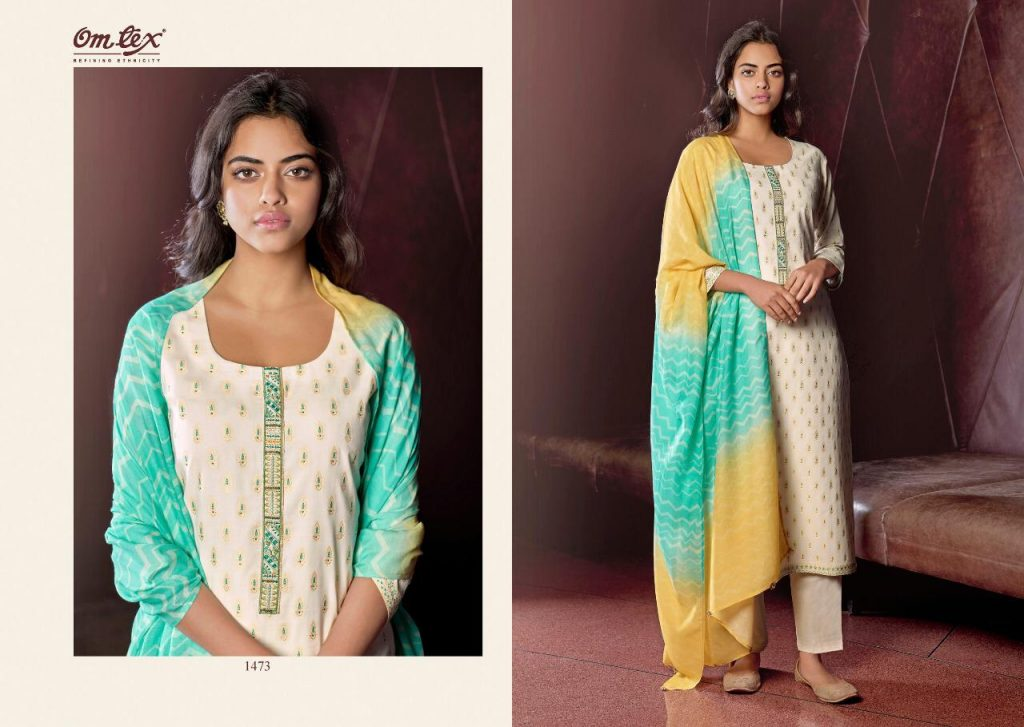 omtex phairdros series party wear suits pratham exports