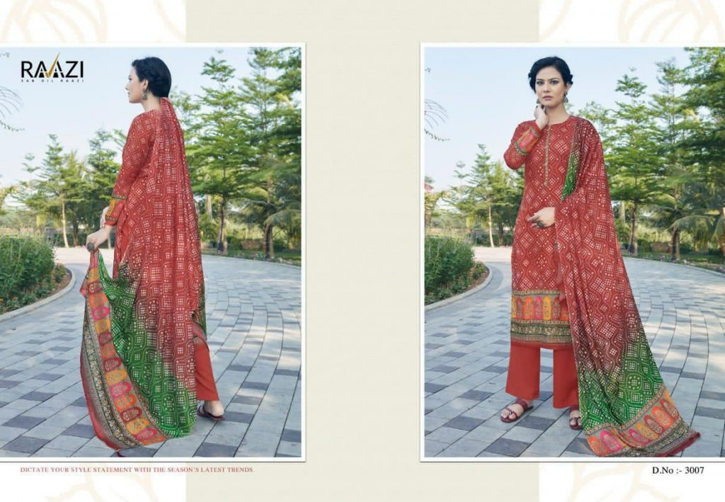 rama fashion raazi bandhej catalog wholesale at pratham fashion