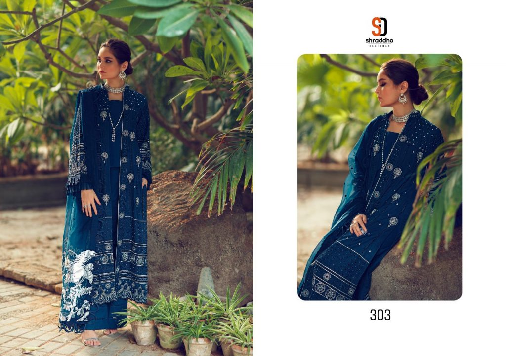 shraddha designer sana safina cottan collection vol catalogue at pratham fashion