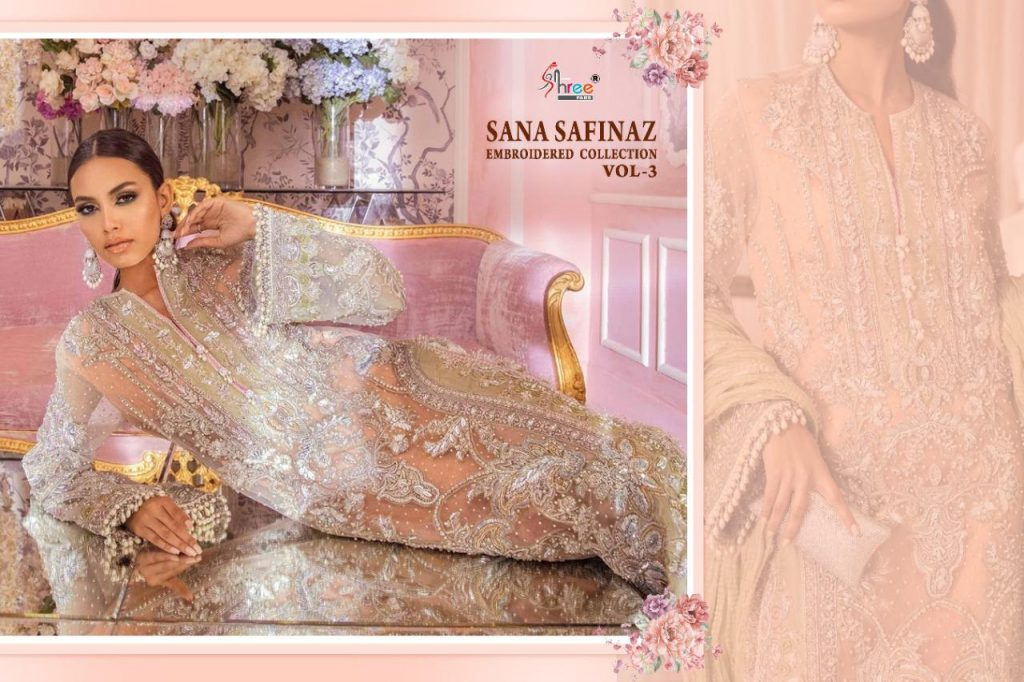 shree fabs sana safinaz embroidered collection vol catalogue pratham exports