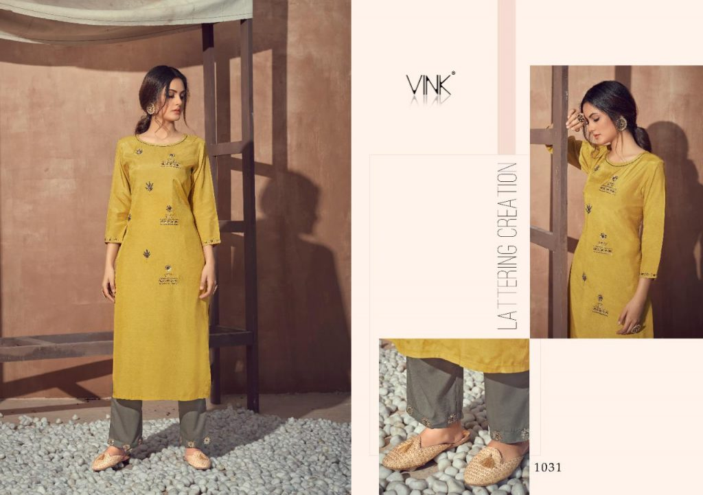 vink vintage vol kurtis plazo set wholesale price