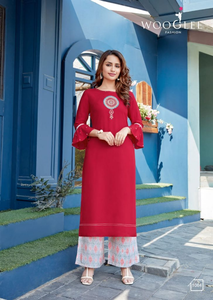 woogle celebration vol catalogue kurtis at pratham fashion